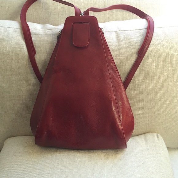 78% off HOBO Handbags - Beautiful red leather Hobo backpack purse ...