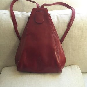 HOBO Bags - Beautiful red leather Hobo backpack purse. d840e29cfa1d8