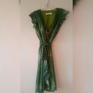 Anthropologie Dresses & Skirts - Anthropologie silk wrap dress