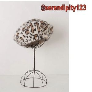 0170dfdae208d Anthropologie Accessories - Anthropologie Snow Leopard Beret – BRAND NEW!
