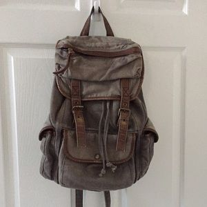 Ecote Handbags - Gray Canvas Backpack