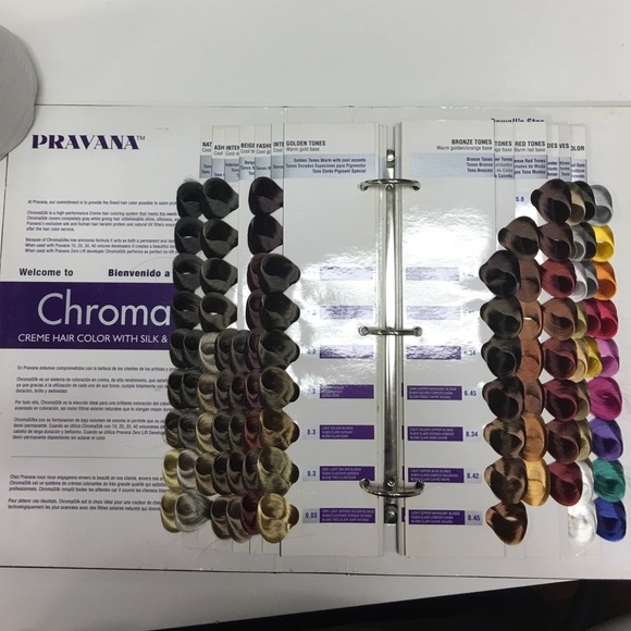pravana other used pravana swatch book - Hair Color Swatch Book