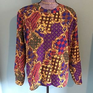 Vintage Tops - Amazing Vintage Blouse very Versace looking 12