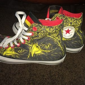 80551a1c08da Converse Shoes - Germany converse. Grey red   yellow with bird sz 9
