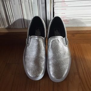 Silver metallic VANS sneakers