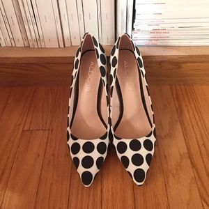 Aldo polka dot pumps