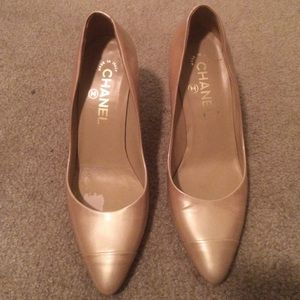 Chanel Nude Patent Leather Pumps