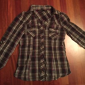 Tops - Brown & Pink Flannel