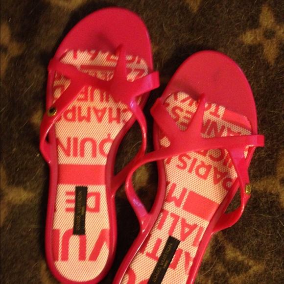 4f694d542de0 Louis Vuitton Shoes - Authentic Louis Vuitton jelly sandals
