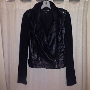 Forever 21 faux leather jacket, size small