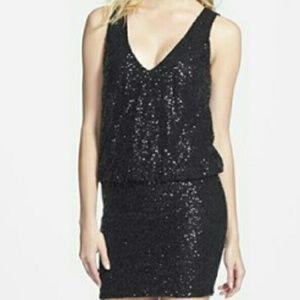 ASTR Dresses & Skirts - ASTR sleeveless black sequined dress NWT