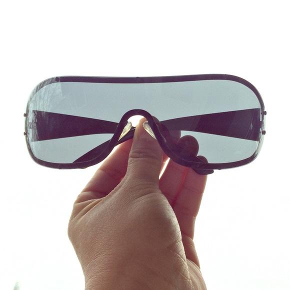 c8e52421bfe Glam Prada Shield Sunglasses