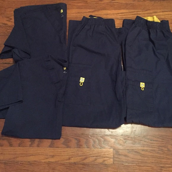 26f4a5ee9a15c Spread good cheer Pants | Scrubs 2 Pairs Of Navy Scrubs | Poshmark