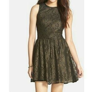 Frenchi Dresses - Frenchi black dress lace,w/gold accents