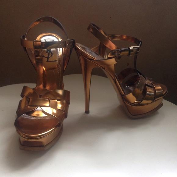 eecdb8a1e7 YSL Gold Tribute 105 platform Sandals (Size 6.5). M_565e5e9015c8af5932048ae5