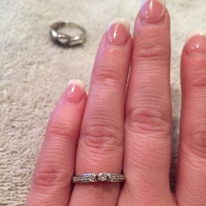 Zales Jewelry - Diamond with diamond accent promise ring