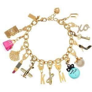 "☀️HP☀️KATE SPADE☀️Jewelry ""F"" Charm for Bracelet"