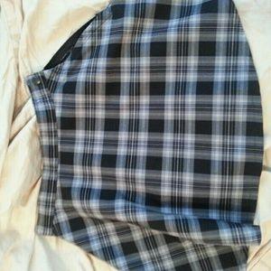 AA plaid circle skirt