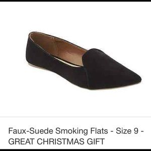 Old Navy faux suede smoking flats