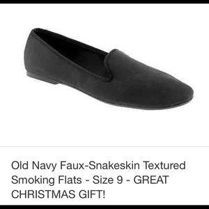 Old Navy faux snakeskin smoking flats