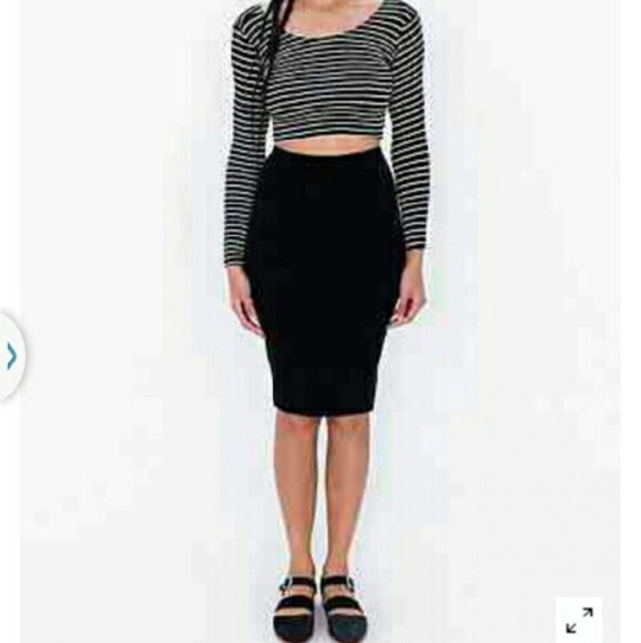 24% off American Apparel Dresses & Skirts - AA black ponte mid ...