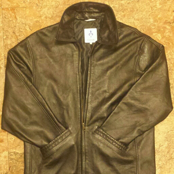 Firenze Jackets Coats Black Italian Leather Jacket Made In Italy