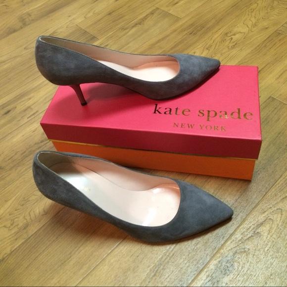 75% off kate spade Shoes - kate spade suede kitten heel size 9