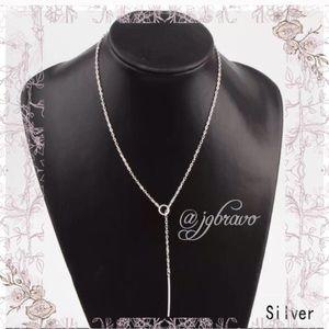 Jewelry - Silver Minimalist Lariat Necklace
