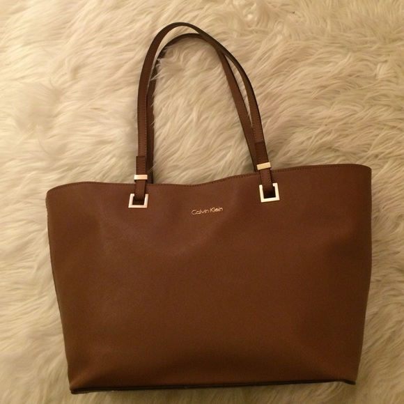 Leather Tote Bag Calvin Klein