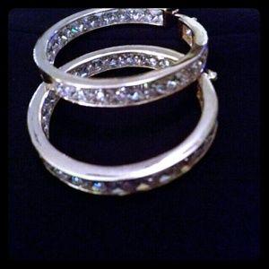 Jewelry - 14k Yellow Gold Plated Hoop earrings