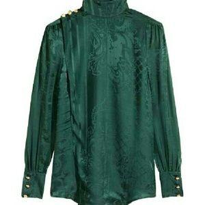 Balmain x H&M   Tops - BALMAIN x H&M Jacquard-weave Silk Blouse