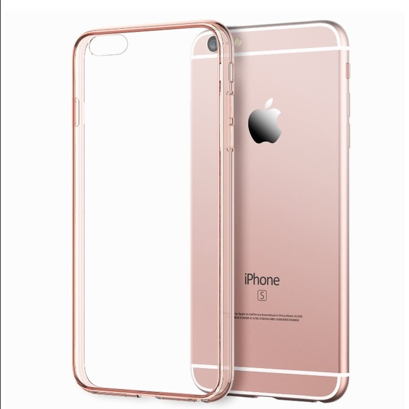 low priced 9291f ef1af iPhone 6 or 6S Rose Gold/Clear Case, never used