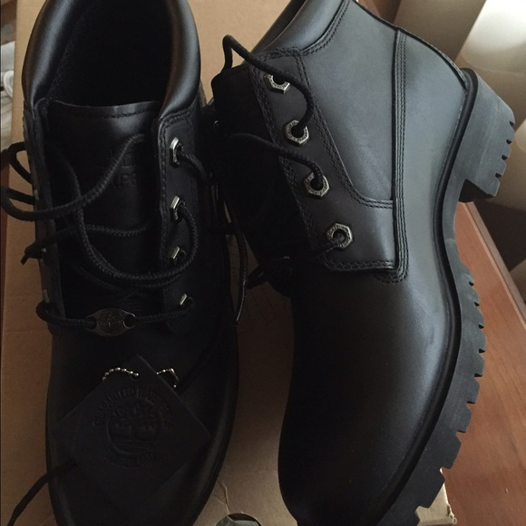 nellie timberland women black leather