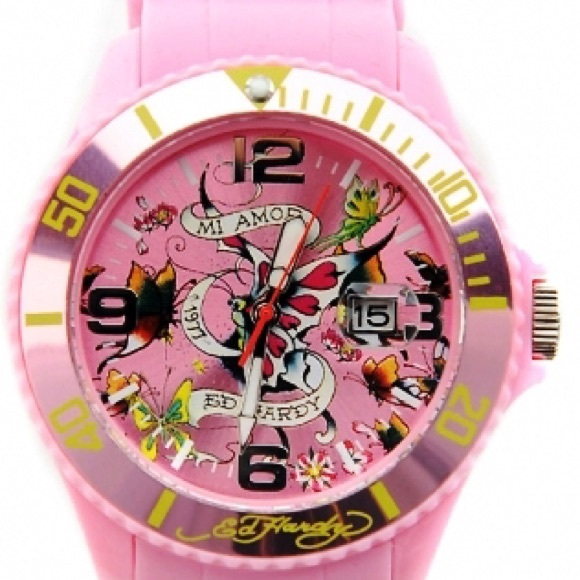 fcb60a8853be Ed Hardy Accessories - Bundle. Pink Ed Hardy Watch and white watch