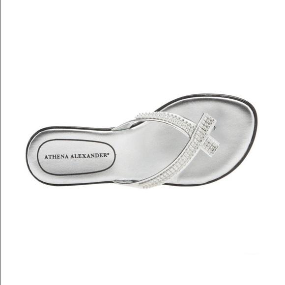 822b55ad60ae95 Athena Alexander Shoes - Athena Alexander White Rhinestone Sandals - 9M