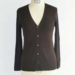 J. Crew Sweaters - J. Crew Ribbed Sweater Button Front Cardigan