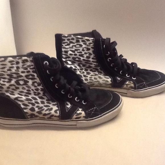 leopard print vans high tops