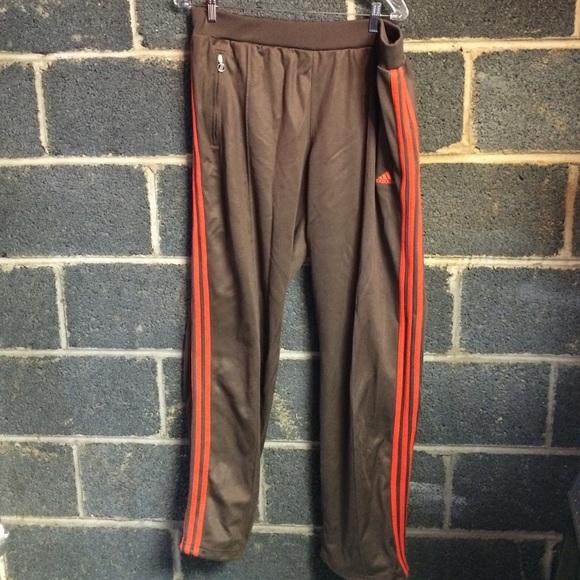 adidas pants brown