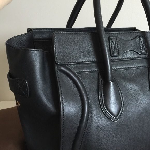 69% off Celine Handbags - SALE-AUTHENTIC Celine Black Calkskin ...