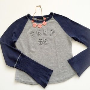 DKNY BASEBALL TYPE SWEATER