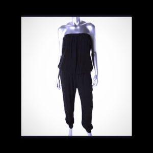 OLIVIACEOUS Pants - ! NWT OLIVACEOUS Black Strapless Jumpsuit