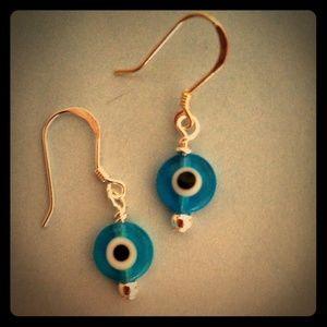 Jewelry - Sterling Silver Evil Eye Earrings