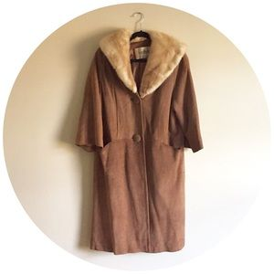 Vintage Leather and Mink Duster Coat by Hudson's