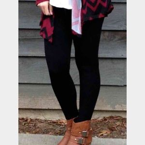 Black fleece lined leggings