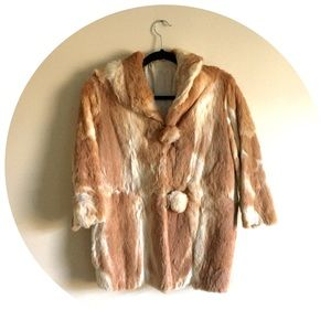 Vintage Rabbit Fur 3/4 Coat