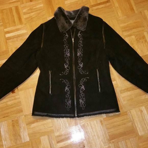 50% off IZZI Outerwear Jackets u0026 Blazers - Izzi Outerwear Faux Fur Black Coatu2661 from !evelinau0026#39;s ...