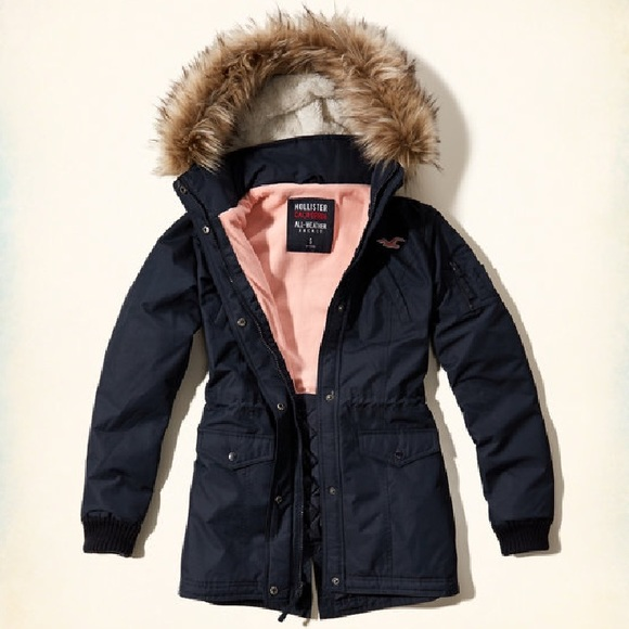29% off Hollister Jackets & Blazers - Hollister all weather parka ...