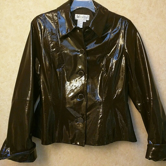 W By Worth Jackets Amp Coats Real Patent Leather Jacket