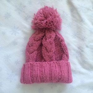 Pink Wool Blend Hat