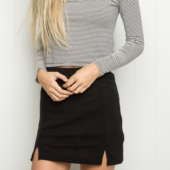 5ac36419 Brandy Melville Skirts | Black Meana Skirt | Poshmark